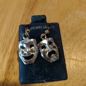 Sterling Silver Comedy and Tragedy earrings